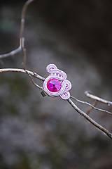 Lola soutache ring - ružové