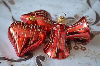 Dekorácie - Červená laková sada s kamienkami - 9860242_