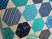 Úžitkový textil - Detská moderná deka vzor hexagon - 9839451_