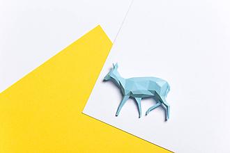 Odznaky/Brošne - Srnka belasá - brošňa vytvorená na 3D tlačiarni - 9859052_