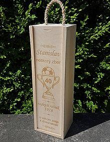 Dekorácie - Drevený box na víno - 9857734_