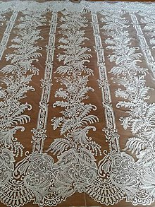 Textil - Exkluzívna svadobná krajka - 9858336_