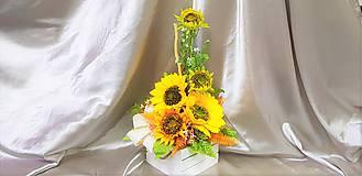 Dekorácie - Veľký slnečnicový aranžmán - 9858609_