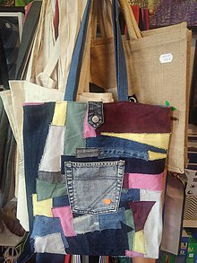 Veľké tašky - Veľká patchwork taška na rameno - 9858545_