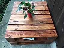 Nábytok - stolík z paletového dreva - 9860257_