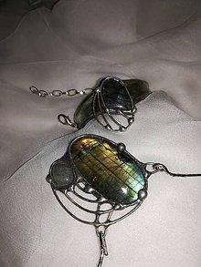 Sady šperkov - Labradoritový set šperkov - 9860553_