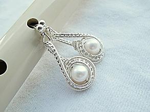 Náušnice - perla - 9859105_