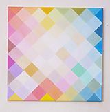 Obrazy - Pastel cube - 9860085_