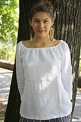 - Ľanová blúzka Vesna s dlhým rukávom - 9862926_