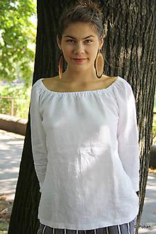 Topy - Ľanová blúzka Vesna s dlhým rukávom - 9862926_