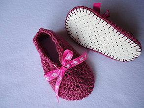 Topánočky - papučky - mašličkové bačkorky 1 - 9863306_