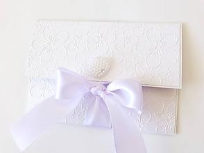 Papiernictvo - svadobná darčeková obálka na peniaze - 9860733_