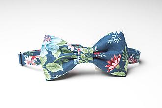 Doplnky - Motýlik rozkvitnutý modrý - 9861230_