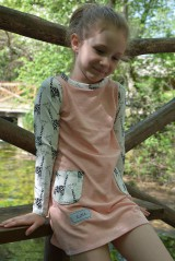 Detské oblečenie - Maia šaty salmon 116 - posledný kus! - 9863708_