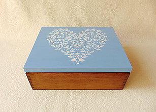 Krabičky - Drevená šperkovnica / organizér - 9863410_