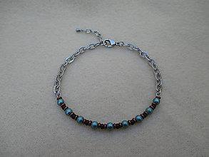 Náramky - Perlovo - korálkový náramok z chirurgickej ocele - 9861838_