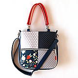 Veľké tašky - Sandy girl - S bodkami a s kvetmi - 9861872_