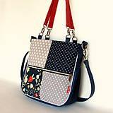 Veľké tašky - Sandy girl - S bodkami a s kvetmi - 9861873_