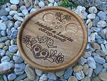 Darčeky pre svadobčanov - Svadobný tanierik - 9861994_