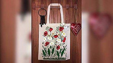 Iné tašky - ♥ Plátená, ručne maľovaná taška ♥  (S5) - 9861604_