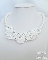 Náhrdelníky - Svadobný náhrdelník - 9861100_