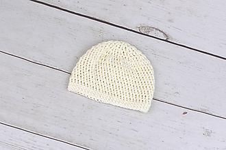 Detské čiapky - Smotanová letná čiapka BIO/ORGANIC - 9861921_