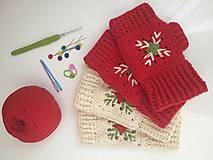 Rukavice - bezprstové rukavičky Vianoce - 9863253_