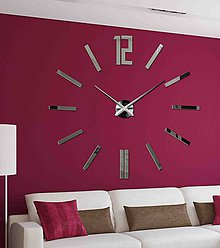 Hodiny - Moderné nástenné hodiny do obývačky 0031X ZRKADLO - 9860789_