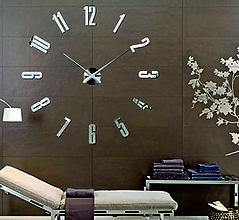 Hodiny - Trendové nástenné hodiny 3D - Barello S041S - 9863084_