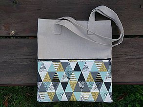 Nákupné tašky - Ľanová taška SUNSET - 9863331_