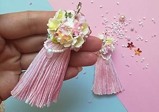Náušnice - Romantické ružové kvietkove nausnice - 9861081_