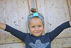 Detské čiapky - ČELENKA - uchokrytka (dámska) - 9861305_