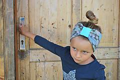 Detské čiapky - ČELENKA - uchokrytka (dámska) - 9861311_