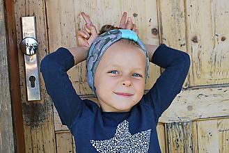 Detské čiapky - ČELENKA - uchokrytka (dámska) - 9861310_