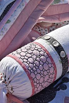 """Úžitkový textil - Válec k prehozu """"Divé maky No. 2 """" - 9862964_"""