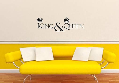 Nálepky na stenu - KING   QUEEN   eNALEPKY - SAShE.sk - Handmade ... 97311b49cf2