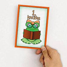 Papiernictvo - Žabie míľnikové kartičky (žabka a knižka) - 9863466_