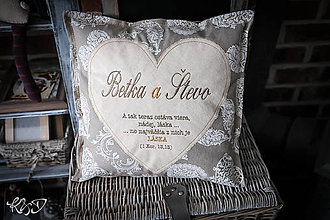 Úžitkový textil - Svadobný vankúšik