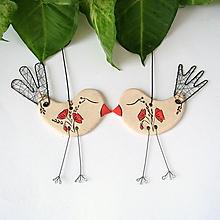 Dekorácie - vtáčik s vlčím makom - 9864399_