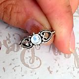 Prstene - Delicate Gemstone Ring SET (3 Rings) / Jemné vintage prstene polodrahokamami (set 3ks) /0059 - 9865208_