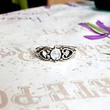 Prstene - Delicate Gemstone Ring SET (3 Rings) / Jemné vintage prstene polodrahokamami (set 3ks) /0059 - 9865214_