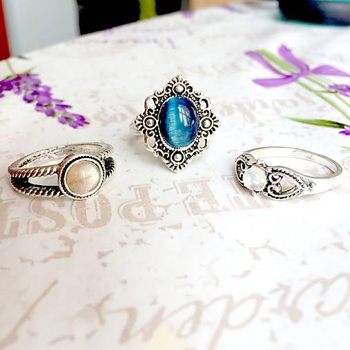 Delicate Gemstone Ring SET (3 Rings) / Jemné vintage prstene polodrahokamami (set 3ks) /0059