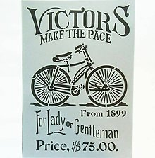 Pomôcky/Nástroje - Šablóna Stamperia - 20x30 cm - bicykel, lady, gentleman - 9864061_