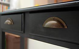Nábytok - Príručný stolík Henrich (š-80Xv84Xh25cm - Čierna) - 9865506_