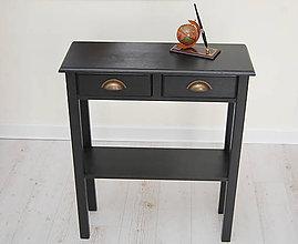 Nábytok - Príručný stolík Henrich (š-80Xv84Xh25cm - Čierna) - 9865505_