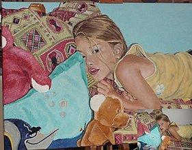 Obrazy - Portrét dievčatka - 9864084_