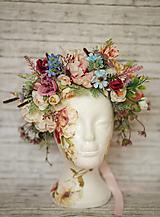 Ozdoby do vlasov - Veľký kvetinový boho venček - 9864383_