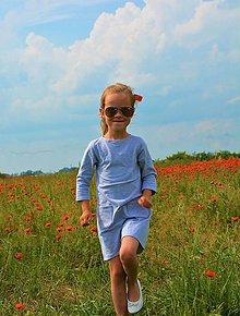 Detské oblečenie - Carina šaty sivé 116 posledný kus! - 9863787_