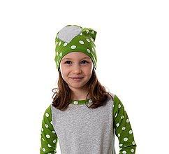 Detské čiapky - Mimosa čiapka heart - 9863827_