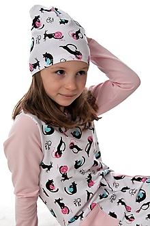 Detské čiapky - Maia čiapka cats - 9863838_